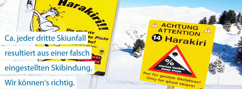 Skiservice Berlin Banner Bindungseinstellung