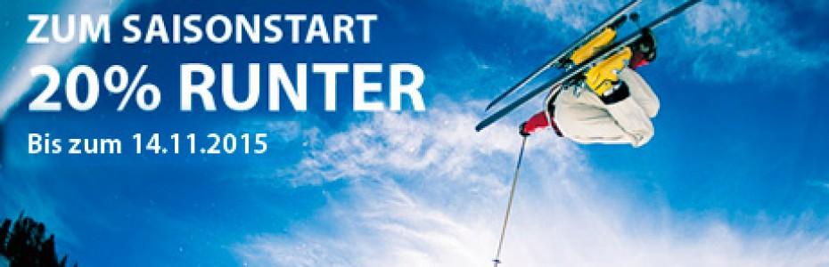 Skiservice Saisonstart Rabatt